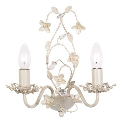Lullaby Double Wall Light in Cream and Painted Gold - ENDON LULLABY-2WBCR
